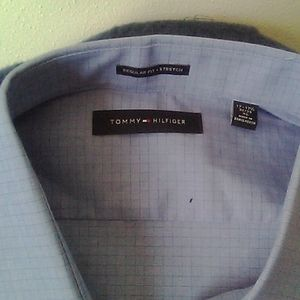 Navy blue men dress shirt